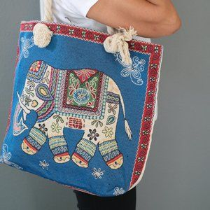 Beach Bag/Big tote/cotton linen/fabric tote with z